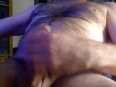 Horny Hairy Dad Big Uncut Dick Large Balls