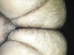Hot hairy 20 year old fucks fat daddy with small dick