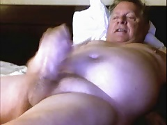 Smiling Grandpa with very thick Dick