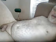 Bear Cumming in Bed