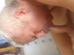 Coroa de bigode chupando (Mature Daddy Mustache)