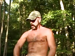 Daddy bear's playing outside