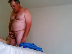 Dad cum on youngs cock