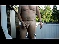 Big cum at balcony