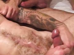 Two Muscle Daddies Flip-Fuck Bareback