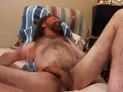 Str8 daddy play in the bed