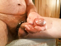 oiled up jerk with cock strap