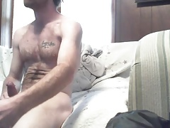 Str8 daddy watching porn & jerk hart