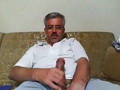 Horny old turk jacking for me