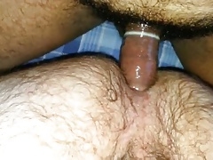 FUCKS VERY HAIRY ASSED DAD
