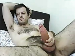 Str8 horny daddy on bed