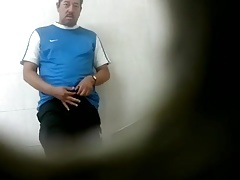 Str8 spy daddy in public toilet