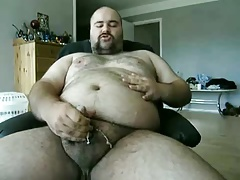 Danish Guy - Bear doing another jerkoff with a shot..