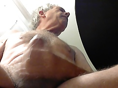 Mature daddy cums for us all to enjoy