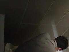 Str8 spy Asian men in public toilet ll