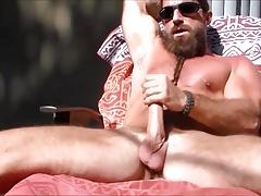 Str8 mountain man jerking in the sun