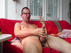 Cumming with Milos on my screen