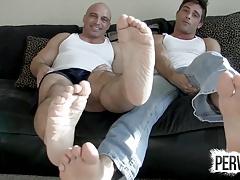 Jerk to Tony Dinozzo and Lance Hart Feet