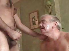 Chinese silverdaddy cumshot