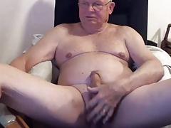 sexy grandpa play on cam (no cum)