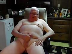 glasses grandpa stroke and cum on cam