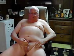 glasses grandpa stroke and cum on cam