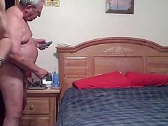 Grandpas having great fun in the bedroom