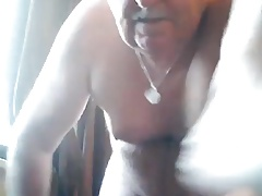 grandpa play and cum in cam