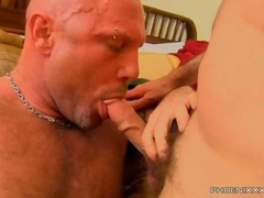 Clay Towers gets a loving hardcore fuck from his muscular daddy top Chad Brock