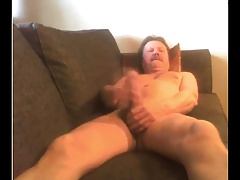 daddy big cock stroke and cum on cam