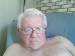 sexy grandpa shows body on cam (no cum)