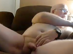 grandpa stroked cum on cam