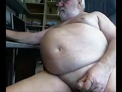 sexy grandpa show his body on cam