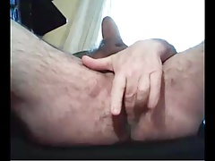 grandpa play with dildo and cum