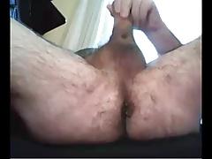 grandpa play with dildo and cum