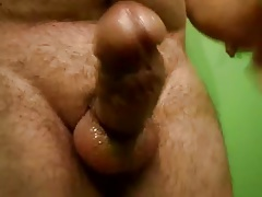 Small dick peanut butter stroked on shaft