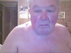 sexy grandpa show chest on cam