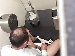 Str8 spy daddy in public toilet part 2