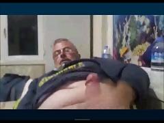 Grandpa wanking webcam