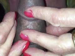 White sissy bitch sucking me off