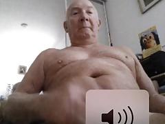 grandpa stroke and cum