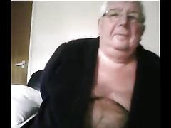 sexy grandpa shows body on cam