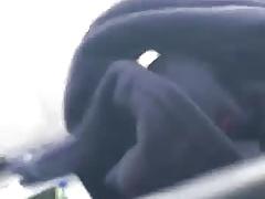 Str8 driver caught wanking