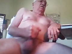 grandpa stroke and cum