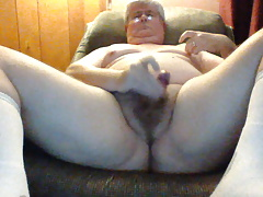 Mature Tiny Chub Cum