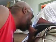 Sucking daddy after work