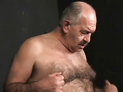 2 old nasty daddies bang slave