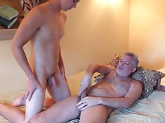 Top daddy breeding handsome boy