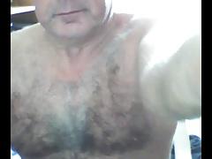 hairy grandpa stroke and cum on cam