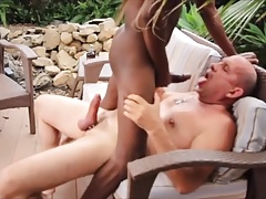 Playing with a married daddy in his backyard